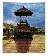 A Temple Fleece Blanket