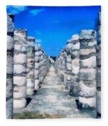 A Thousand Columns Fleece Blanket