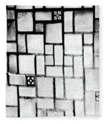 A Tiled Wall Fleece Blanket