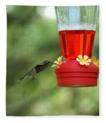 A Tiny Little Ruby-throated Hummingbirds Fleece Blanket