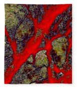 A Touch Of Autumn Abstract IIi Fleece Blanket