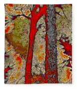 A Touch Of Autumn Abstract V Fleece Blanket
