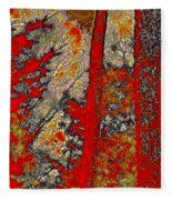 A Touch Of Autumn Abstract Vi Fleece Blanket