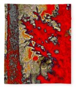 A Touch Of Autumn Abstract Vii Fleece Blanket