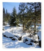 A Touch Of Snow Fleece Blanket