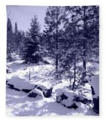 A Touch Of Snow In Lavender Fleece Blanket