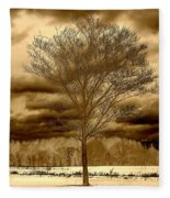 A Tree At Appleton Fleece Blanket