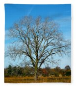 A Tree In Fall... Fleece Blanket