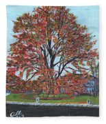A Tree In Sherborn Fleece Blanket