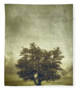 A Tree In The Fog 2 Fleece Blanket