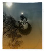 A Tree In The Sky Fleece Blanket
