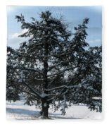 A Tree In Winter Fleece Blanket