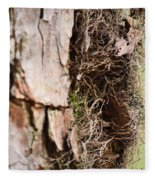 A Treetrunk Abstract Fleece Blanket