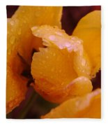 A Tullips Dappled With Rain Fleece Blanket