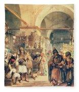 A Turkish Bazaar Fleece Blanket