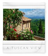 A Tuscan View Poster Fleece Blanket