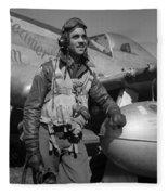 A Tuskegee Airman Fleece Blanket