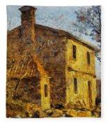 A Typical  Karstic House Fleece Blanket