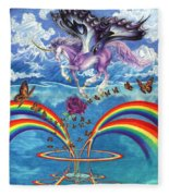 A Unicorn's Love Fleece Blanket