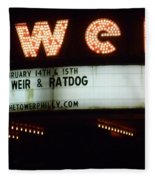 A Valentines Weekend With Ratdog  Tower Theater Marquis Fleece Blanket