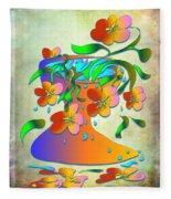 A Vase Of Flowers Fleece Blanket