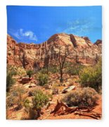 A View Along The Watchman Fleece Blanket