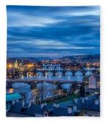 A View At Prague - Czech Republic Fleece Blanket