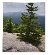 A View From A Mountain In A Vermont State Park Fleece Blanket