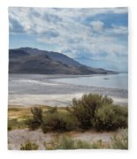 A View From Buffalo Point Of White Rock Bay Fleece Blanket
