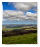 A View From Cabbage Hill Fleece Blanket
