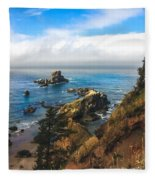 A View From Ecola State Park Fleece Blanket