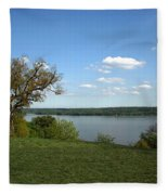 A View From Mount Vernon Fleece Blanket