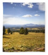 A View From The Peaks  Fleece Blanket