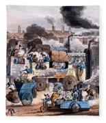 A View In White Chapel Road 1830 Fleece Blanket