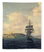 A View Of Constantinople Fleece Blanket