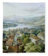 A View Of Karlsruhe Fleece Blanket