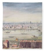 A View Of London From St Pauls To The Custom House, 1837 Fleece Blanket