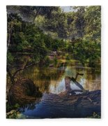 A View Of The Nature Center Merged Image Fleece Blanket