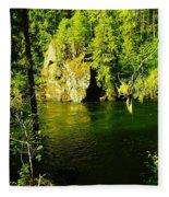 A View Of The Seleway River Fleece Blanket