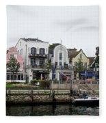 A View Of Warnemunde Germany Fleece Blanket