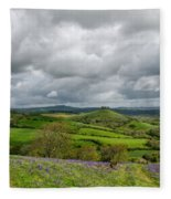 A View To Colmer's Hill Fleece Blanket