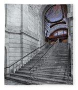 A View To The Mcgraw Rotunda Nypl Fleece Blanket