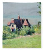 A Villa At Trouville Fleece Blanket