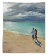 A Walk At Tumon Bay Guam Fleece Blanket
