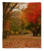 A Walk In Autumn - Holmdel Park Fleece Blanket