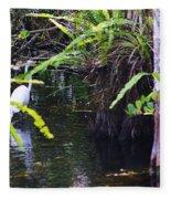A Walk In The Glades Fleece Blanket