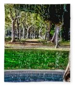 A Walk In The Park By Diana Sainz Fleece Blanket