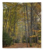 A Walk In The Woods II Fleece Blanket