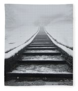 A Walk Into The Fog Fleece Blanket