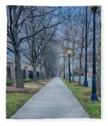 A Walk On A Sidewalk Street Alley Fleece Blanket